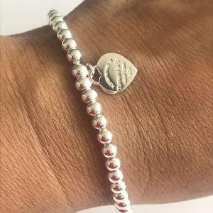 TIFFANY & Co New Silver bead bracelet 4mm